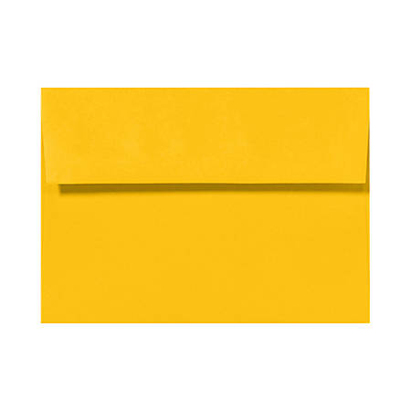 "LUX Invitation Envelopes With Peel & Press Closure, A6, 4 3/4"" x 6 1/2"", Sunflower Yellow, Pack Of 50"