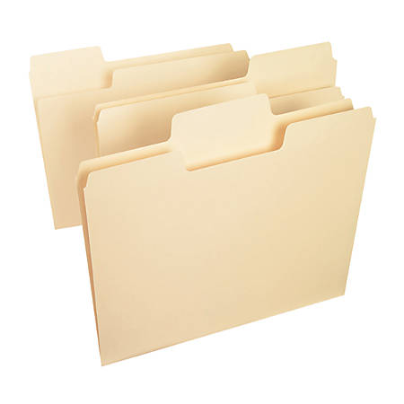 Smead® SuperTab® Heavyweight File Folders, Letter Size, 1/3 Cut, Manila, Box Of 50