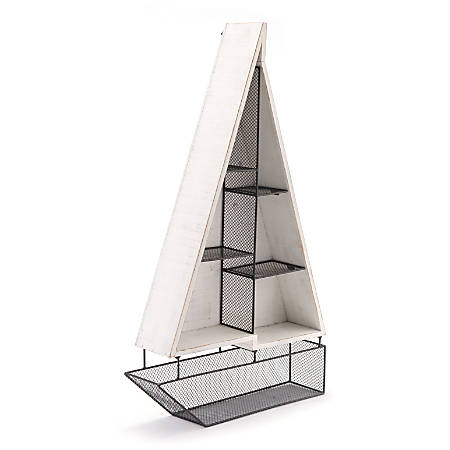 "Zuo Modern Boat Shelf, 3 Shelves, 28 15/16""H x 16 15/16""W x 3 15/16""D, White"