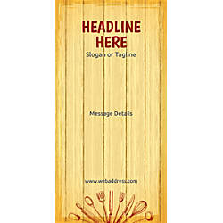 Custom Vertical Display Banner Chopping Board