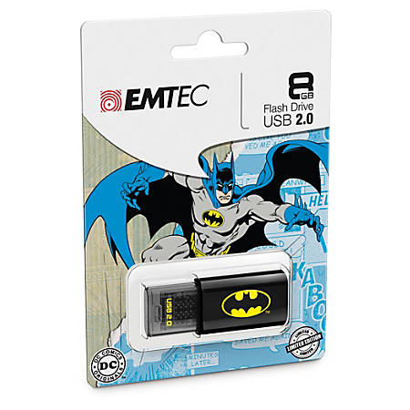 EMTEC Superhero USB 2.0 Flash Drive, Batman, 8GB