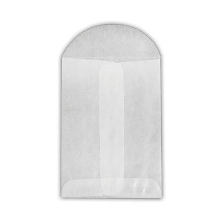 """LUX Open-End Envelopes With Flap Closure, 3"""" x 4 1/2"""", Glassine, Pack Of 1,000"""