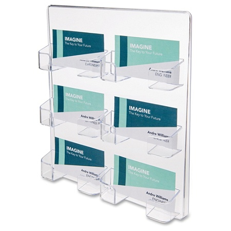 Deflecto Wall Mount Business Card Holder Acrylic 1 Each Clear