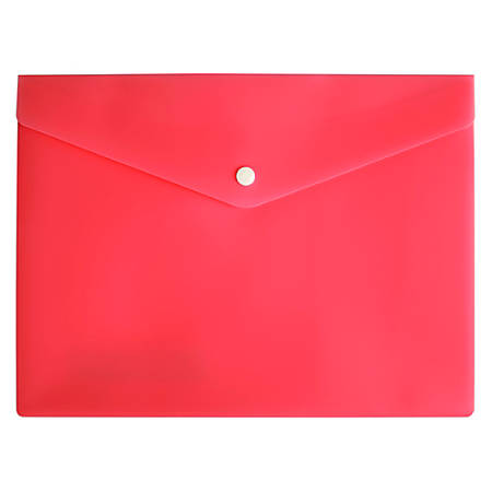 "Office Depot® Brand Poly Envelope, 8-1/2"" x 11"", Pink"