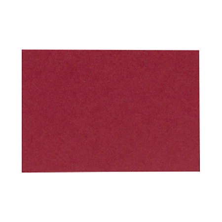 "LUX Flat Cards, A9, 5 1/2"" x 8 1/2"", Garnet Red, Pack Of 250"