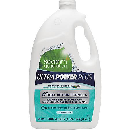 Seventh Generation Ultra Power-Plus Dishwasher Gel - Gel - 0.51 gal (65 fl oz) - Fresh Scent - 6 / Carton