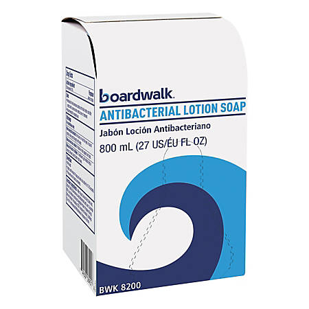 Boardwalk® Antibacterial Lotion Soap, Floral Balsam Scent, 27.05 Oz, Carton Of 12