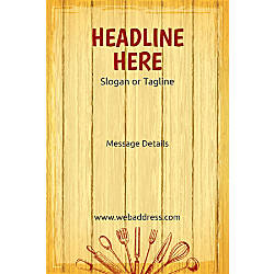 Adhesive Sign Chopping Board Vertical