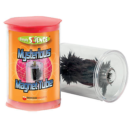 """Dowling Magnets Mysterious Magnet Tube, 3 1/2""""H x 3 1/2""""W x 5""""D, Grades 1-8"""