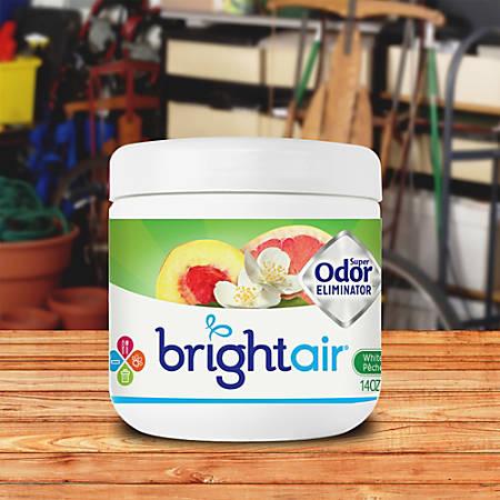 Bright Air White Peach Super Odor Eliminator Jar - 14 fl oz (0.4 quart) - White Peach, Citrus - 60 Day - 6 / Carton