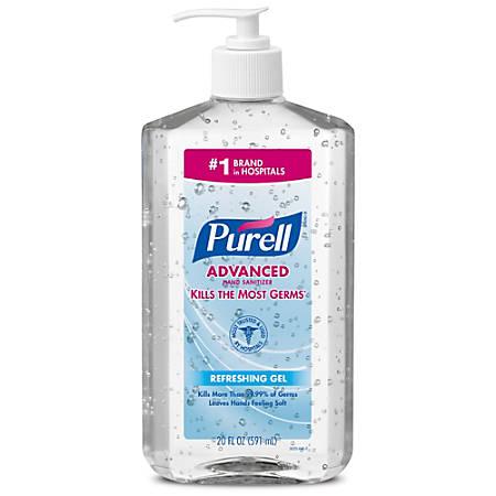 Purell® Instant Hand Sanitizer, 20 Oz. Pump Bottles, Pack Of 12