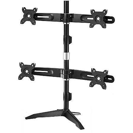 """Amer Mounts Stand Based Quad Monitor Mount for four 15""""-24"""" LCD/LED Flat Panel Screens"""