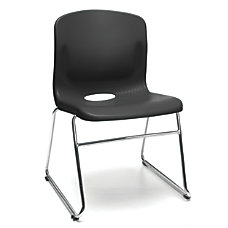 OFM Multi Use Stacker Chairs BlackChrome