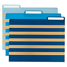 Office Depot Brand Fashion Paper File