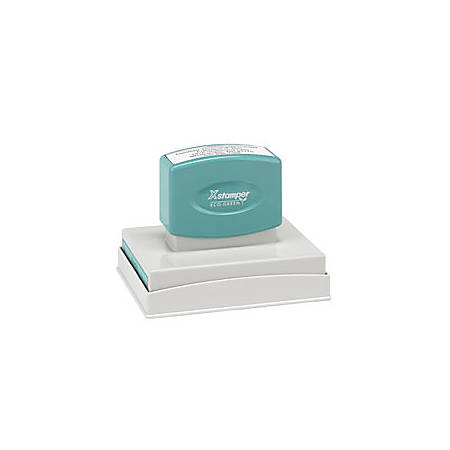 "ECO-GREEN Xstamper® Pre-Inked Large Stamp, N28, 61% Recycled, 2 1/2"" x 3 7/8"" Impression"