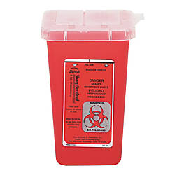Impact Sharps Waste Receptacle Square Plastic