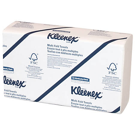 Kleenex® 50% Recycled M-Fold Hand Towels, White, Case Of 1,200