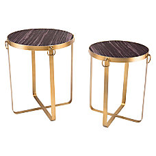 Zuo Modern Onix Side Tables Round