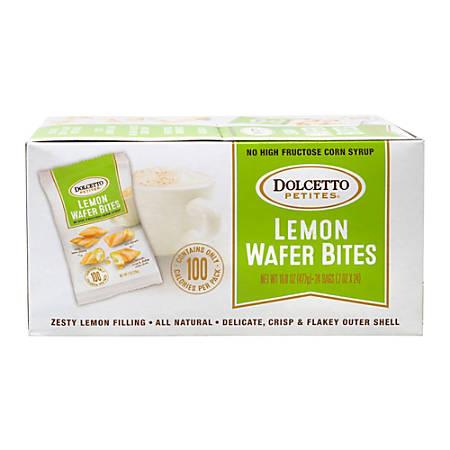 Dolcetto Petites Lemon Wafer Bites, 0.7 Oz, Box Of 24 Bags