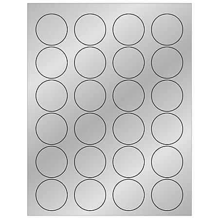 """Office Depot® Brand Foil Circle Laser Labels, LL216SR, 1 5/8"""", Silver, Case Of 2,400"""