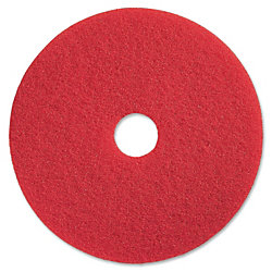 "Impact Products Open Web Floor Pad - 12"" Diameter - 5/Carton x 12"" Diameter - Fiber - Red"