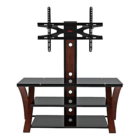 "Z-Line Designs® Makena Flat Panel 3-in-1 Television Mount System, 50""H x 50""W x 20""D, Cherry/Black"