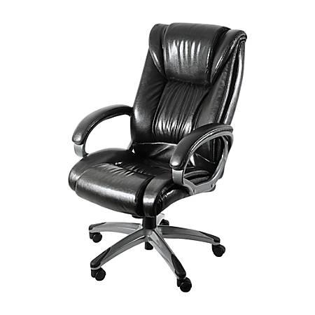 Z-Line Designs Leather Chair, Black