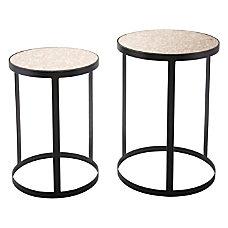 Zuo Modern Antique Tables Round NaturalBlack
