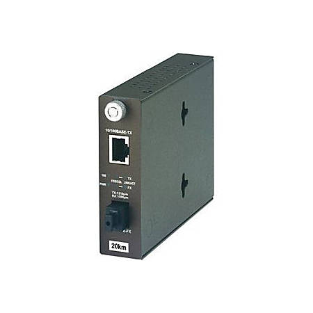 TRENDnet TFC-110S20D5 100Base-TX to 100Base-FX Dual Wavelength Single Mode SC Fiber Converter