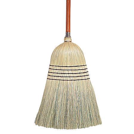 "Wilen Janitor Corn-Blend Brooms, 55 1/2"", Pack Of 6"