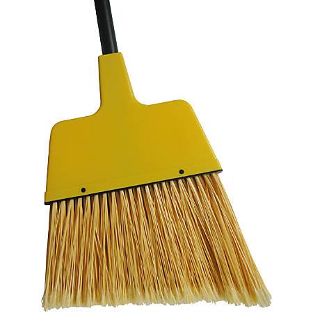 "Wilen Complete Angle Broom, Large, 48"" Handle, Black/Yellow"