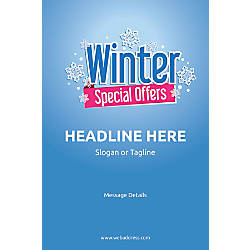 Adhesive Sign Winter Special Offers Vertical
