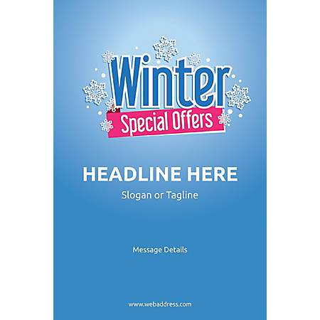 Adhesive Sign, Winter Special Offers, Vertical