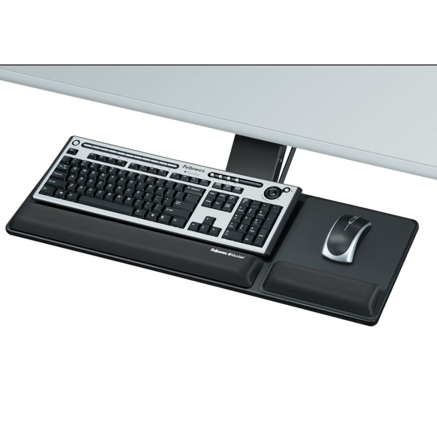 Fellowes Designer Suites Compact Keyboard Tray Black by Office