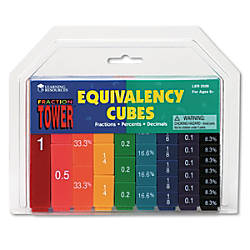 Learning Resources Fraction Tower Cubes Equivalency