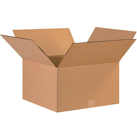 """Office Depot® Brand Corrugated Boxes, 9""""H x 17""""W x 17""""D, 15% Recycled, Kraft, Bundle Of 25"""