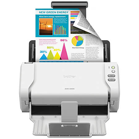 Brother® Color Duplex Document Scanner, ADS-2200