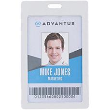 Advantus Vertical Rigid ID Badge Holder