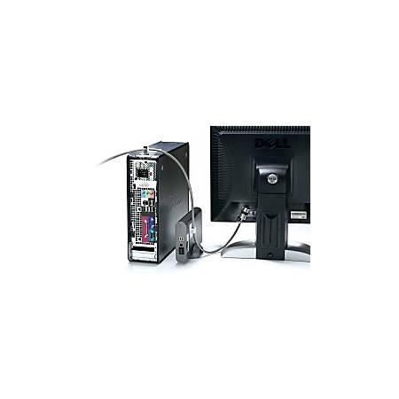 Kensington Desktop/Peripherals Locking Kit - Silver - Carbon Steel - 8 ft - For Desktop Computer