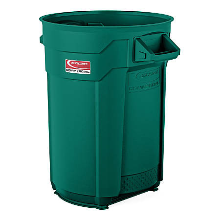 Suncast Commercial® Round HDPE Utility Trash Can, 32 Gallon, Green