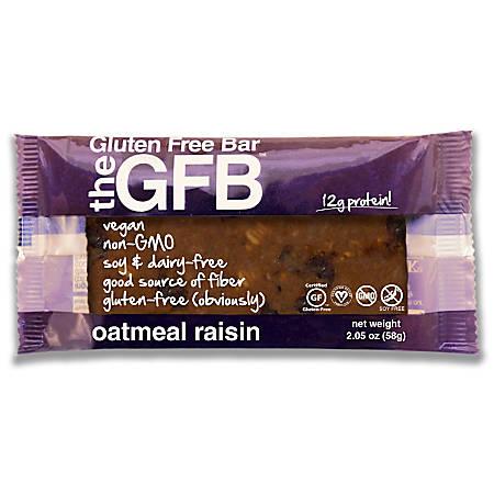 The Gluten-Free Bar, Oatmeal Raisin, 2.05 Oz, Pack Of 12