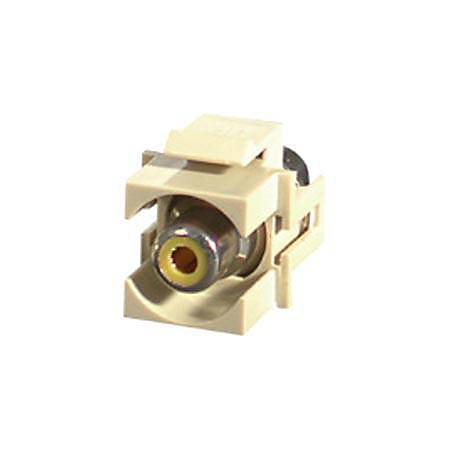 C2G Snap-In Yellow RCA F/F Keystone Insert Module - Ivory