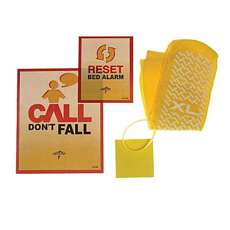 Medline Fall Prevention Kits, Female, Yellow, Pack Of 15 Kits