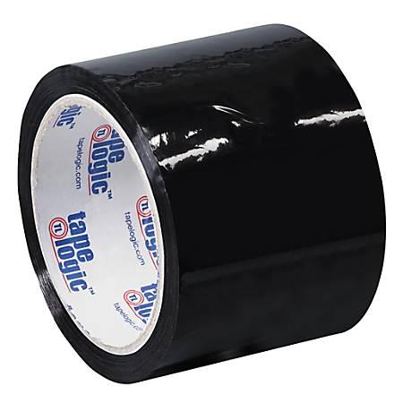 """Tape Logic® Carton-Sealing Tape, 3"""" Core, 3"""" x 55 Yd., Black, Pack Of 6"""