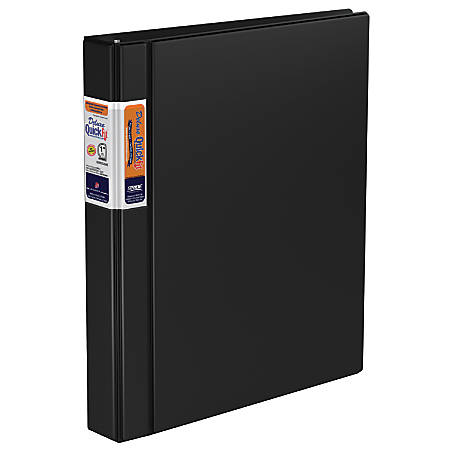 "Stride QuickFit Commercial D-Ring Binder, 1"" Ring, Black"