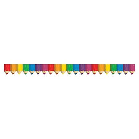 "Creative Teaching Press Jumbo Color Pencils Border - (Border) Shape - Jumbo Color Pencils - 2.75"" Width x 420"" Length - Multicolor - 1 Each"