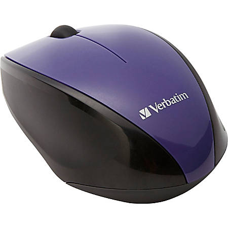 Verbatim® Wireless USB 2.0 Notebook Multi-Trac Blue LED Mouse, Purple