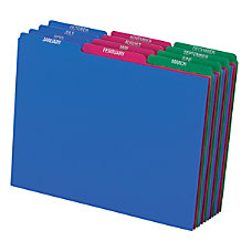 Pendaflex Poly File Guide Sets Printed