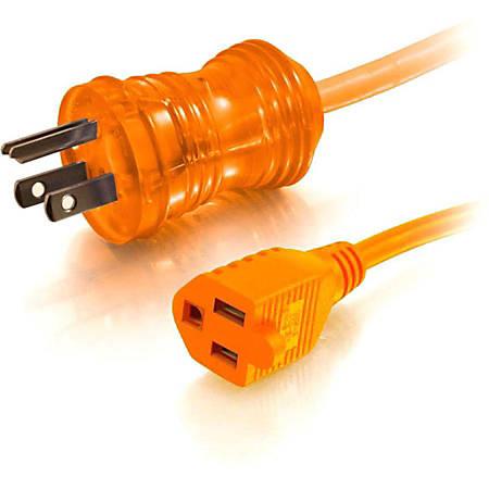 C2G 75ft 16 AWG Hospital Grade Power Extension Cord (NEMA 5-15P to NEMA 5-15R) - Orange - 125 V AC Voltage Rating - 13 A Current Rating - Orange