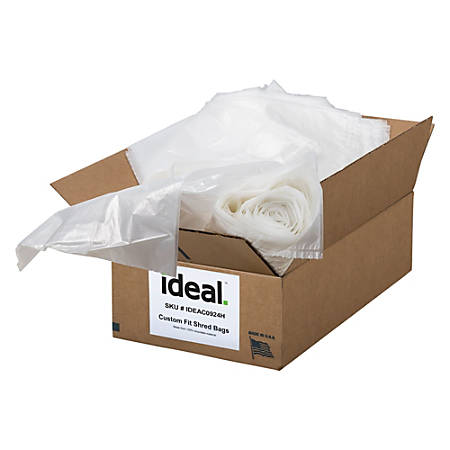 """ideal. Shredder Bags For Model 5009, 79 Gallons, 54"""" x 48"""", Pack Of 45 Bags"""